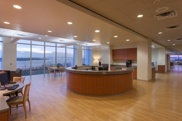 Ochsner Gayle and Tom Benson Cancer Center interior