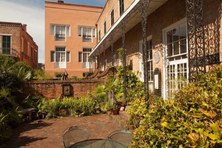 Exterior renovation to historic Beauregard courtyard