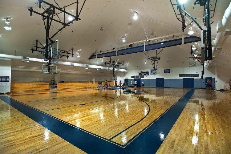 Interior view of gymnasium
