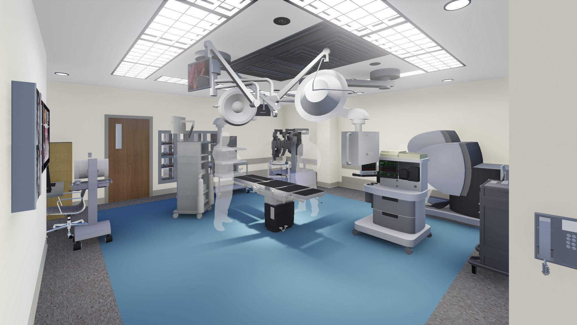 operating room visualization prior to construction